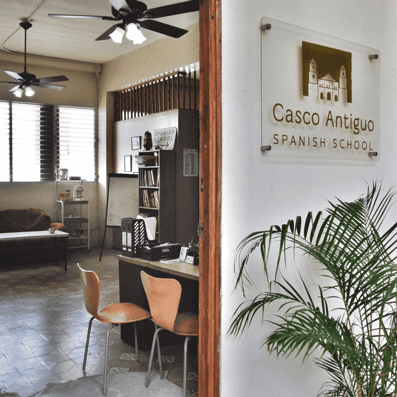 A peek inside Casco Antiguo Spanish School