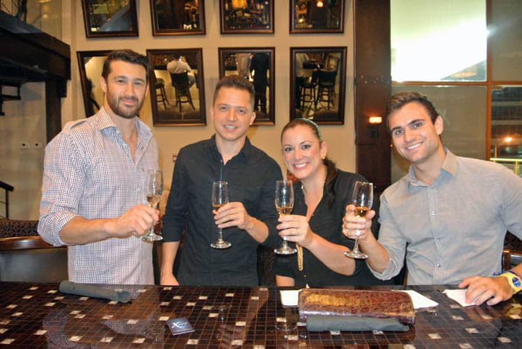 Alex (owner), Arturo, Claudia, and I trying one of the 150+ brands of tequila