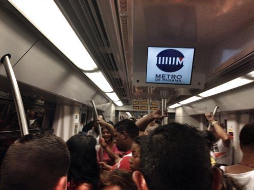 Inside panama Metro